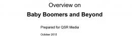 Baby boomers account for around a quarter of QSR visits, says research