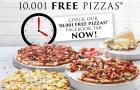 Domino\'s gives away 10,001 free pizzas